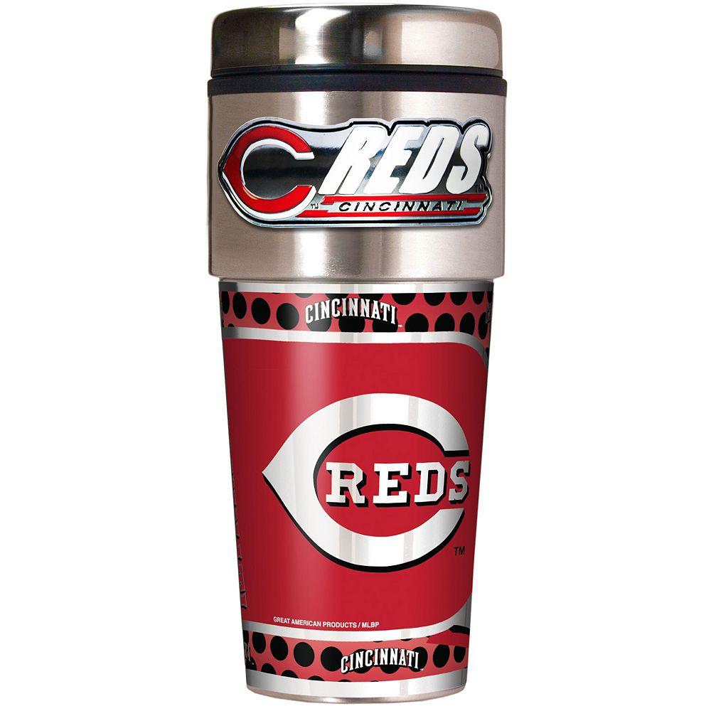 Cincinnati Reds Stainless Steel Metallic Travel Tumbler