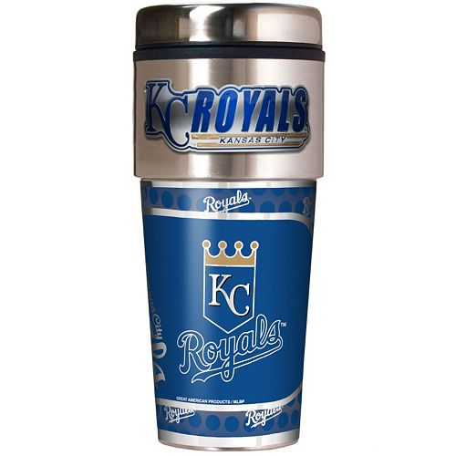 Kansas City Royals Stainless Steel Metallic Travel Tumbler