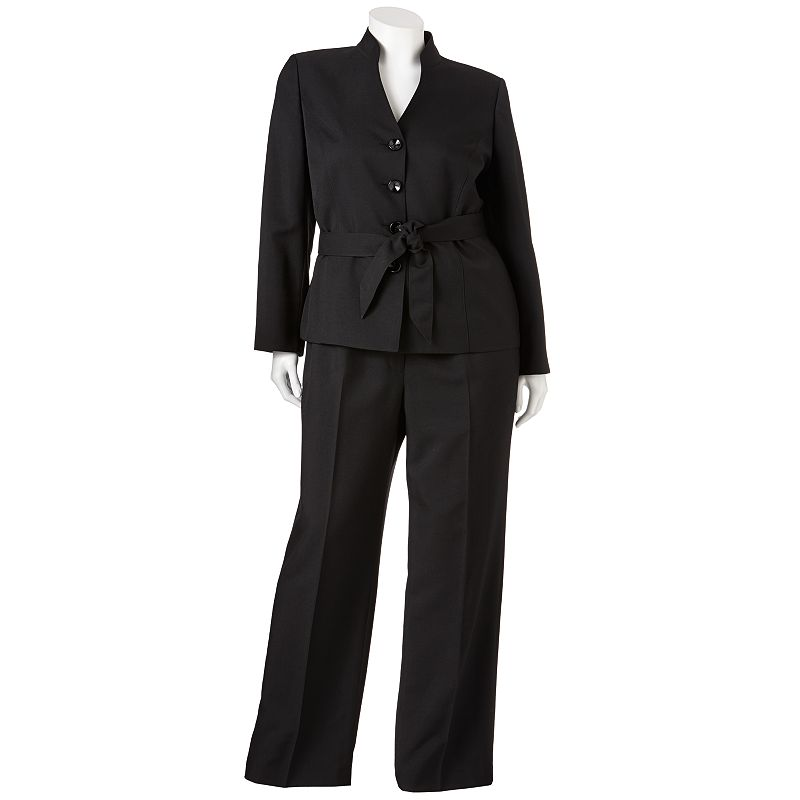 Gloria Vanderbilt Solid Suit Jacket and Pant Set - Women's Plus
