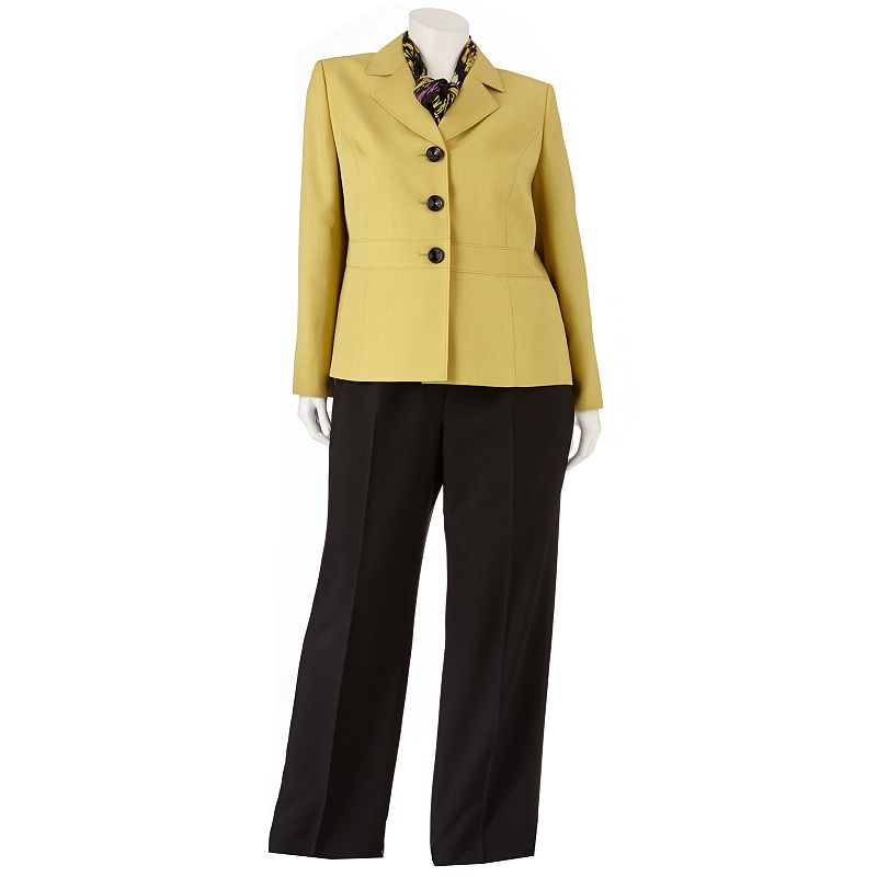 Gloria Vanderbilt Twill Suit Set - Women's Plus