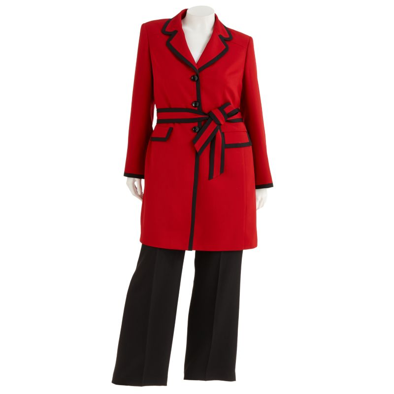 Gloria Vanderbilt Colorblock Suit Jacket & Pant Set - Women's Plus