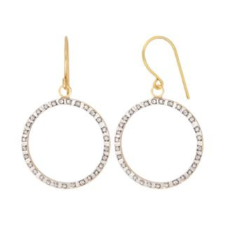 Diamond Fascination 14k Gold Diamond Accent Hoop Drop Earrings