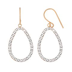 Diamond Fascination 14k Gold Diamond Accent Teardrop Earrings