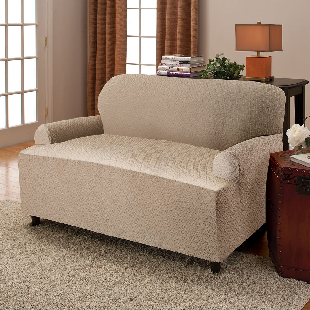 Stretch Sensation Victoria Stretch T-Cushion Sofa Slipcover