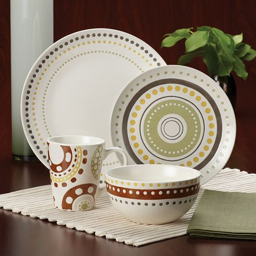 Rachael Ray Circles & Dots 16-pc. Dinnerware Set