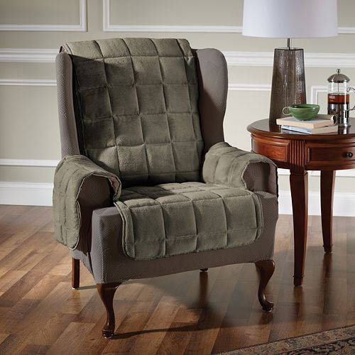 Innovative Textile Solutions Plush Recliner Wing Chair Protector