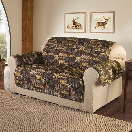 Jeffrey Home Lodge Microfiber Sofa Protector