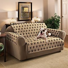 Innovative Textile Solutions Paw Prints Microfiber Loveseat Protector