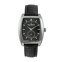 Peugeot Men's Leather Watch - 2027BK
