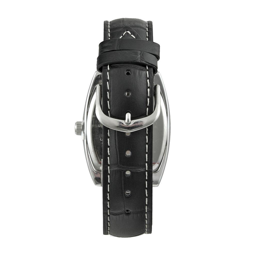 Peugeot Men's Leather Watch - 2027BK
