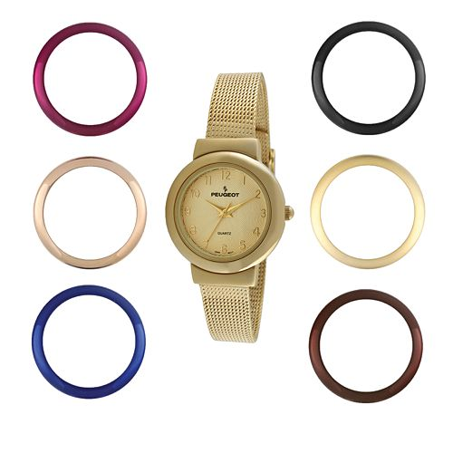 Peugeot Women's Mesh Watch Set - 642G
