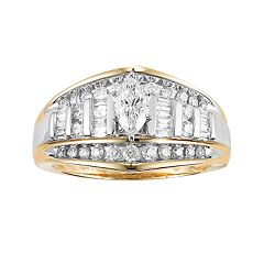 Cherish Always 10k Gold 1 Carat T.W. Diamond Marquise Ring by