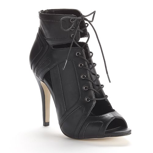 Rock & Republic® Cutout High Heel Ankle Booties - Women