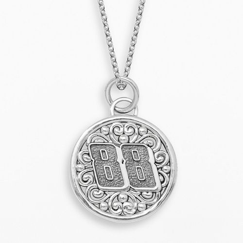 "Insignia Collection NASCAR Dale Earnhardt Jr. Sterling Silver ""88"" Pendant"