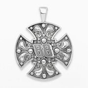 Insignia Collection NASCAR Dale Earnhardt Jr. Sterling Silver '88' Maltese Cross Pendant