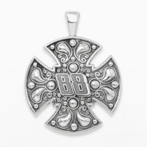 Insignia Collection NASCAR Dale Earnhardt Jr. Sterling Silver 88 Maltese Cross Pendant