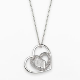 Insignia Collection NASCAR Dale Earnhardt Jr. Sterling Silver 88 Heart Pendant
