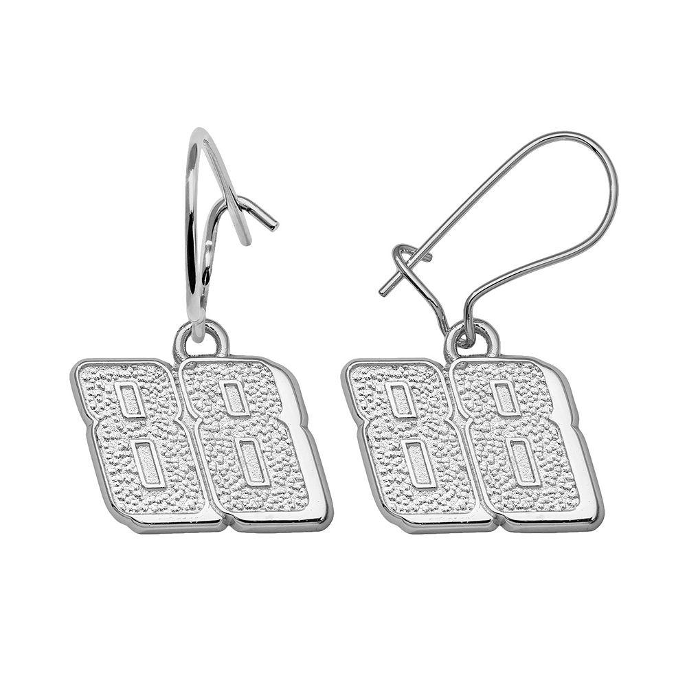 Insignia Collection Nascar Dale Earnhardt Jr Sterling Silver 88 Drop Earrings