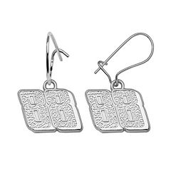 Insignia Collection NASCAR Dale Earnhardt Jr. Sterling Silver '88' Drop Earrings