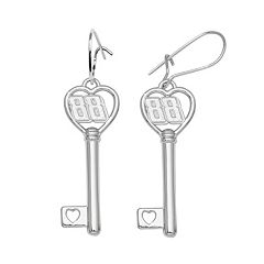Insignia Collection NASCAR Dale Earnhardt Jr. Sterling Silver '88' Heart Key Drop Earrings