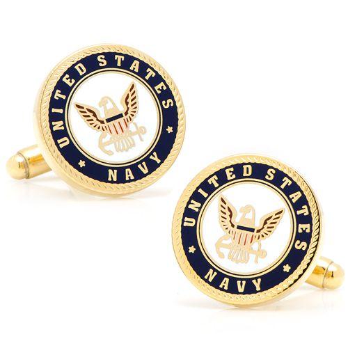 Enamel US Navy Cuff Links