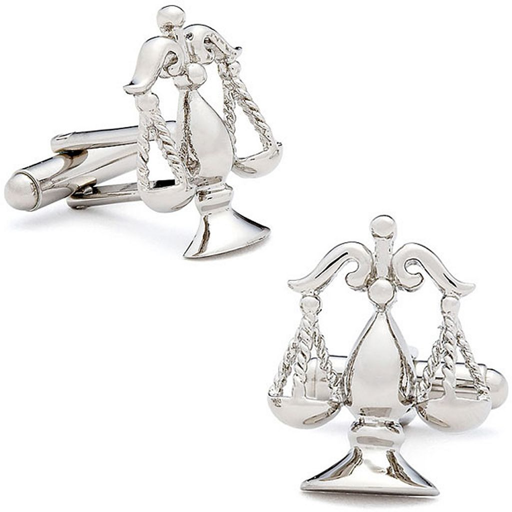 Silver Scales of Justice Cuff Links