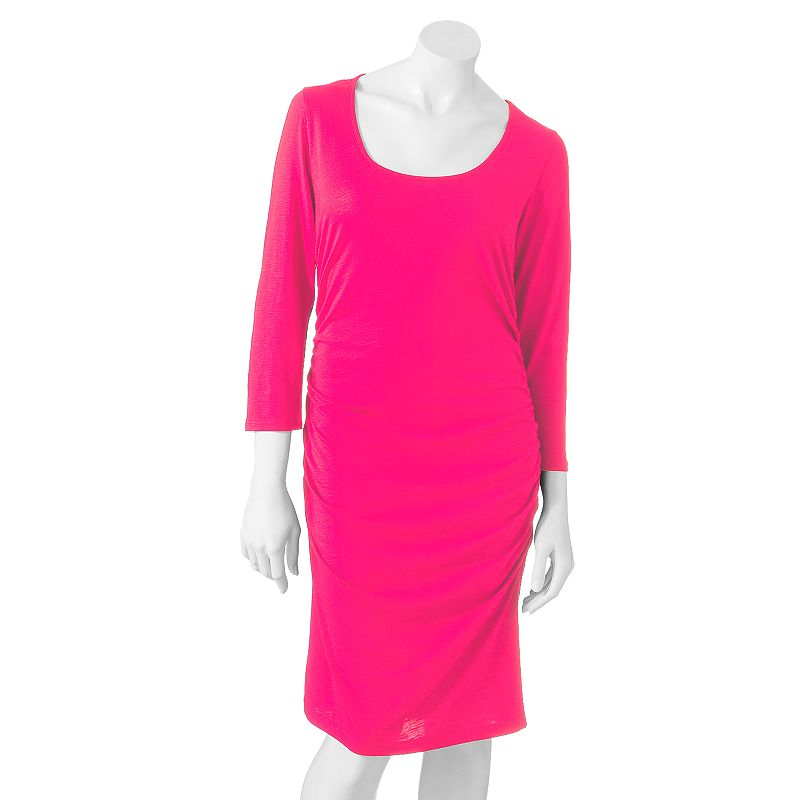Apt 9 solid ruched t shirt dress women 39 s for Apartment 9 dress shirts
