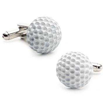 Enamel Golf Ball Cuff Links