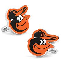 Baltimore Orioles Rhodium-Plated Cuff Links