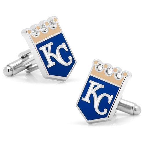 Kansas City Royals Rhodium-Plated Cuff Links