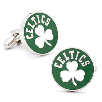 Boston Celtics Vintage Rhodium-Plated Cuff Links