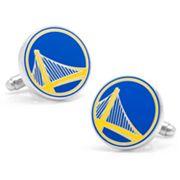 Golden State Warriors Rhodium-Plated Cuff Links