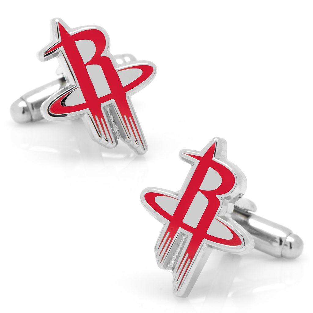 Houston Rockets Rhodium-Plated Cuff Links