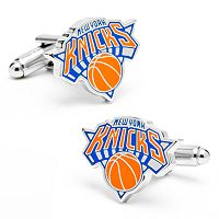 New York Knicks Rhodium-Plated Cuff Links