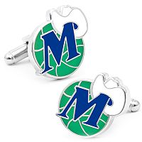 Dallas Mavericks Vintage Rhodium-Plated Cuff Links