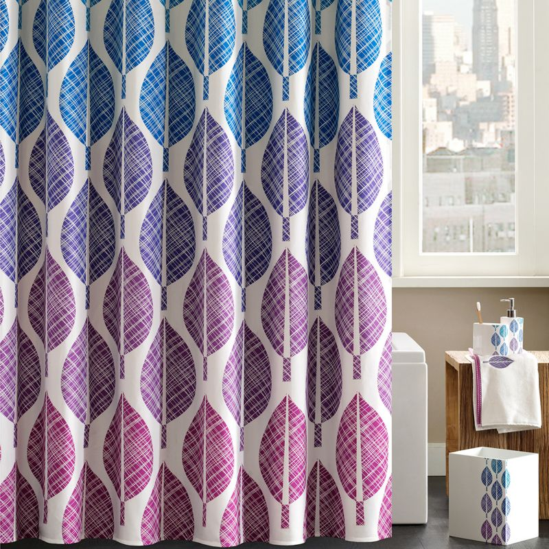 Madison Park Central Park 13-pc. Fabric Shower Curtain & Hook Set