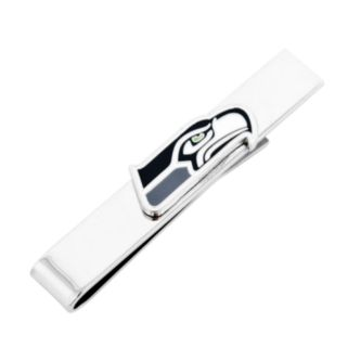 Seattle Seahawks Rhodium-Plated Tie Bar