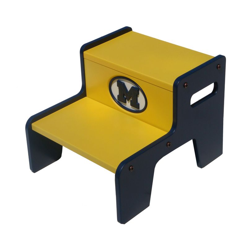 Michigan Wolverines Two Tier Step Stool