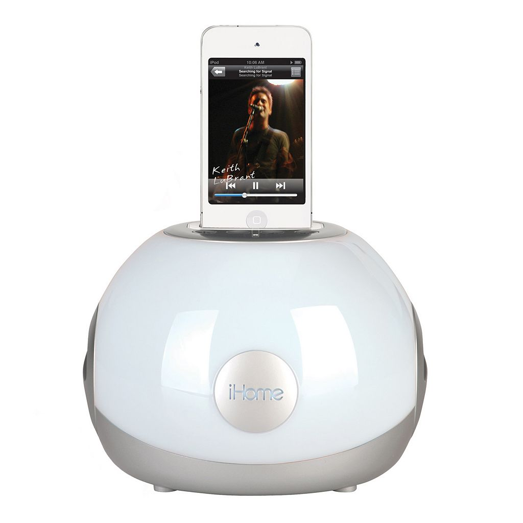 iHome LED Color Changing iPod 30-Pin Stereo System & Charging Dock
