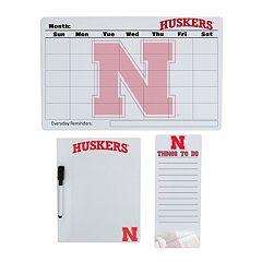 Nebraska Cornhuskers Dry Erase Board Set