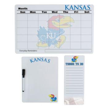 Kansas Jayhawks Dry Erase Board Set