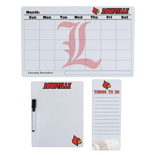 Louisville Cardinals Dry Erase Board Set