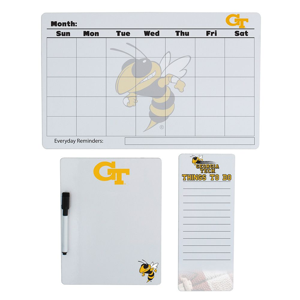Georgia Tech Yellow Jackets Dry Erase Board Set