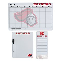 Rutgers Scarlet Knights Dry Erase Board Set