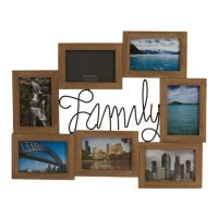 """""""Family"""" 7-Opening 4"""" x 6"""" Collage Frame"""