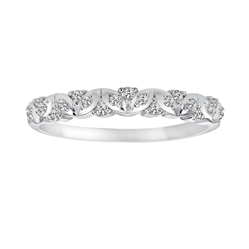 Simply Vera Vera Wang 14k White Gold 1/7-ct. T.W. Diamond Wedding Ring