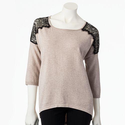 Women's LC Lauren Conrad Lace Sweater
