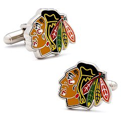 Chicago Blackhawks Rhodium-Plated Cuff Links