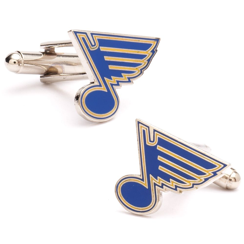 St. Louis Blues Rhodium-Plated Cuff Links