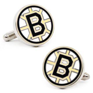 Boston Bruins Rhodium-Plated Cuff Links